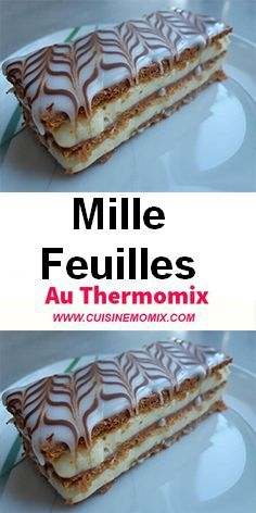 n homemade Thermomix dessert with your food processor. This dessert will amaze everyone. It consists of puff pastry, pastry cream, frosting and chocolate decor. Nutella, Easy Desserts, Dessert Recipes, Dessert Thermomix, Macaron Recipe, Flan, Taste Buds, Macarons, Food Processor Recipes