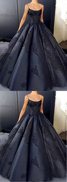 Gorgeous spaghetti straps prom dress, satin long evening gown 51463#RosyProm #fashionpromdress #charmingpromgown #longpartydress #simpleeveningdress #spaghettistrapspromdress #ballgownpromgown