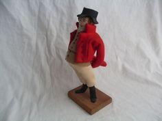 Vintage Folk Art Edith Russell Mr. Pickwick Charles Dickens Standing Doll Figure