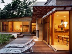Architecture, Breezy Natural Backyard: Chilmark House: Natural Atmosphere