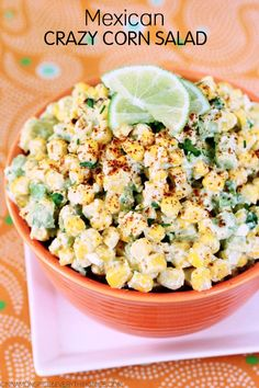 Food Advertising by Crazy corn salad inspired by the Mexican corn salad called esquites. Esquites is a play on Mexican street corn called elote. Elote is made by boiling or grilling corn on the cob, sometimes with the Mexican herb epazote, slathering it with butter and mayonnaise then rolling it in cheese like Cotija or …