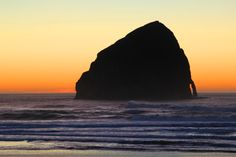 Pacific City, Or  at sunset