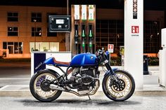 Bolt From The Blue: A Racy BMW R100RS From North East Custom.