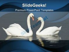 Swans Beach PowerPoint Templates And PowerPoint Backgrounds 0111 #PowerPoint #Templates #Themes #Background