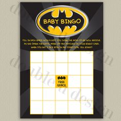 Hey, I found this really awesome Etsy listing at https://www.etsy.com/listing/199246654/instant-download-batman-baby-bingo-baby