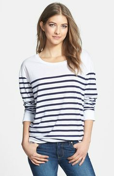 "Stem Heathered Long Sleeve Tee available at #Nordstrom. TASHA! LMAO! Your ""Steve"" sweater could have a friend."