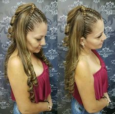 Trensas nuevas Plaits Hairstyles, Baby Girl Hairstyles, Down Hairstyles, Pretty Hairstyles, Wedding Hairstyles, Long Hair Designs, Curly Hair Styles, Natural Hair Styles, Great Hair