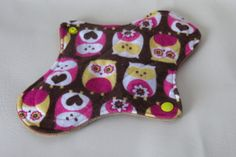 owls cloth pad cotton moderate menstrual by MariposasClothPads, $7.00