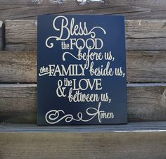 Bless The Food Before Us Sign Dining Room Wall Decor Dining Room Signs Kitchen  Wall Decor Kitchen Signs Bless This Food Wall Prayer Sign