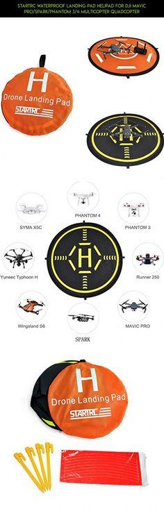 STARTRC Waterproof Landing Pad Helipad for DJI Mavic Pro/SPARK/Phantom 3/4 Multicopter Quadcopter #spark #shopping #plans #drone #products #racing #camera #parts #tech #case #gadgets #fpv #kit #dji #technology