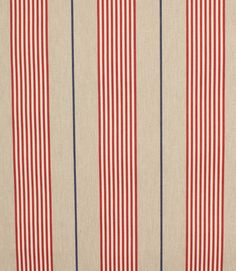 Deckchair Vintage stripe 2 peony is a stylish red deckchair fabric with a lovely striped design www. Striped Upholstery Fabric, Cotton Lawn Fabric, Striped Fabrics, Textures Patterns, Print Patterns, Pattern Design, Stripe Pattern, Vintage Art Prints, Textiles