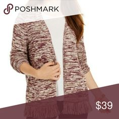 🆕 Plum marbled fringe cardigan Gorgeous and cozy cardigan. Beautiful marbled style. 60% cotton 40% polyester. Style & Co Sweaters Cardigans