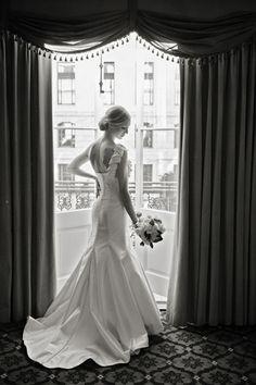 ruffle sleeve gown | Meg Baisden #wedding