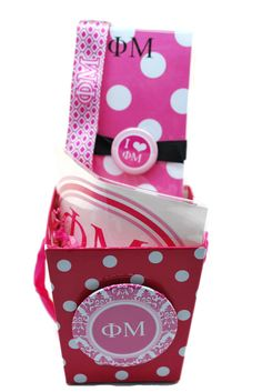 Phi Mu Sorority Gift Basket  Style 2 with by SouthBoundSisters