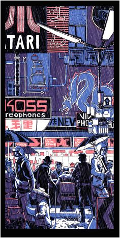 Blade Runner - Tim Doyle. Bryson and I have one of his Bladerunner prints…