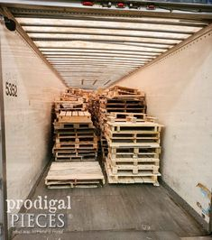 Tractor Trailer Full of Pallets | prodigalpieces.com #prodigalpieces Succulent Centerpieces, Succulents Diy, Diy Fire Pit, Fire Pit Backyard, Weathered Wood Stain, Diy Furniture Projects, Furniture Redo, Fall Vignettes, Patio Makeover