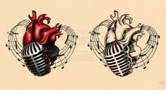 Music heart. Adam Gontier Solo Live 2013 Tattoos by Anastina91 on deviantART
