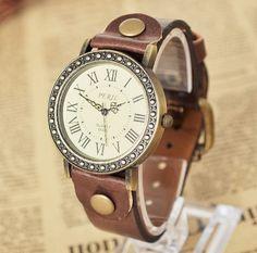nuevo 2013 vintage reloj de pulsera mujeres romaníes dígitos de cuarzo reloj de los hombres de las mujeres de