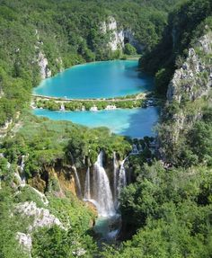Plitvice Lakes National Park in Croatia. I have seen some beautiful pictures of Croatia lately. I think it's time to go!