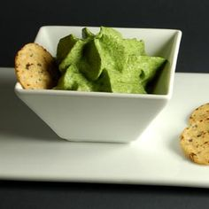 This #spinach foamor espumais a very versatile molecular gastronomy side that can complement a wide variety of dishes via MolecularRecipes.com #recipe #food #foodporn