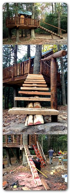 #PinMyDreamBackyard A very rustic tree house we built in Milroy, PA. The…