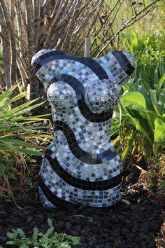 SYLVIA - mosaic torso by Sandra Holmes of BEAUTIFULLY BROKEN - New Zealand