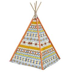 American Kids Childrens Teepee Portable Play Room Cotton Tent Hut Tribal Aztec for sale online Kids Play Teepee, Childrens Teepee, Baby Boy Toys, Baby Boys, Go To Walmart, Wooden Poles, Flag Decor, Coloring For Kids, Aztec