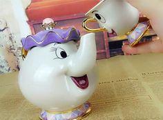 """Mrs Potts & Chip"" Tea Pot & Cup - Beauty And The Beast - Premium Mugs of Mugdom"