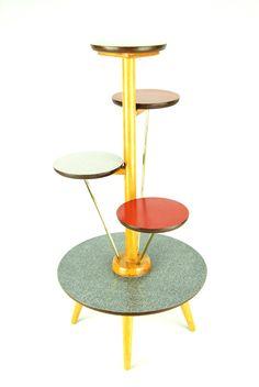Vintage 1950's Plant Stand. Art Deco Mid-Century Danish Modern Eames 30's 40's Era | eBay.