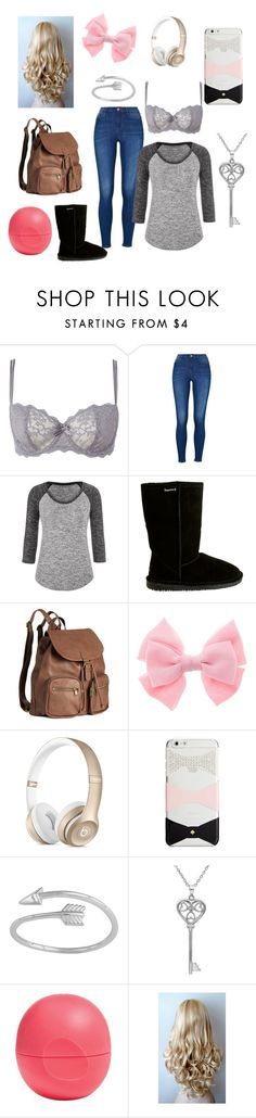 """Casual school day"" by hlauritsen ❤ liked on Polyvore featuring Chantelle, maurices, Bearpaw, H&M, Kate Spade, Amanda Rose Collection and Eos"