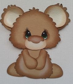 made to order bobble buddy brown bear paper piecing by MyTearBears, $4.50