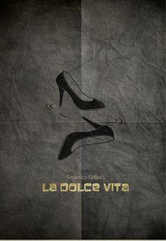 La Dolce Vita (The Good Life) (1960) ~ Minimal Movie Poster by Zoki Cardula ~ Fellini Series #amusementphile