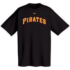 Pittsburgh Pirates Black Wordmark T-shirt  http://allstarsportsfan.com/product/pittsburgh-pirates-black-wordmark-t-shirt/?attribute_pa_size=xx-large  100% cotton team color short sleeve tee with screen print application Officially licensed by Major League Baseball
