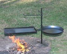 Hillbilly Camping Gear direct on-line sales of blue steel Camp Ovens, frypans and CookStands