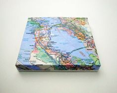 Map on Canvas San Francisco by yinsteadofi on Etsy