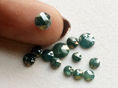 Blue Rose Cut Diamond Blue Natural Diamond Blue by gemsforjewels