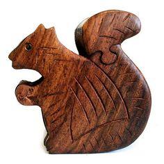Squirrel Puzzle Box