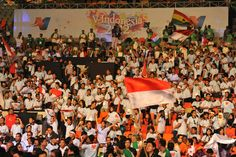 A jam-packed crowd at SICC in V-Indonesia 2012.