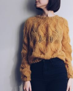 Knitting Pattern PDF Mohair Lace Sweater October Day by   Etsy Drops Kid Silk, Lace Cardigan, Sweater Weather, Ravelry, Knit Crochet, Knitwear, Knitting Patterns, My Style, Sweaters