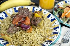 Aromatic Rice (Bariis Udgoon) الأرز البسمتي بالبهارات   -   This rice dish is for those days when we grill, when we want a rice dish that is both easy and quick. It is recommended to soak basmati rice for at least an hour, so the grains will become elongated during cooking. However, for this dish we usually skip this step or let the rice soak for just the amount of time needed to prepare the rest of the ingredients, which is about 20 minutes to half an hour.