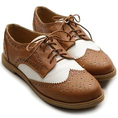 Ollio Women Flat Loafer Wingtip Lace Up 2 Tone Oxford Shoes (5.5 B(M) US, Brown) Ollio,http://www.amazon.com/dp/B00FN0JI14/ref=cm_sw_r_pi_dp_IR1ntb05C2B7V4K1