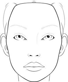 CLICK HERE For Printable PDF Of Blank Face Template Makeup Design ...