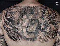 Half Back completed info To Italian Tattoos, Bishop Rotary, Fusion Ink, Back Tattoo, Sleeve Tattoos, Surrealism, Tattoo Artists, Tattoo Ideas, Photoshop