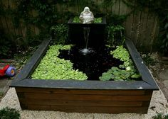 raised ponds with waterfall ideas | Pond ideas