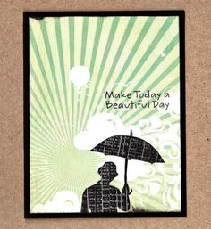 WT525 IC486 Sunny Windy Umbrella Man by gabalot - Cards and Paper Crafts at Splitcoaststampers