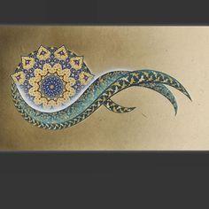 Islamic Art Pattern, Pattern Art, Drawing Bag, Persian Motifs, Islamic Paintings, Iranian Art, Mandala, Arabic Art, Turkish Art
