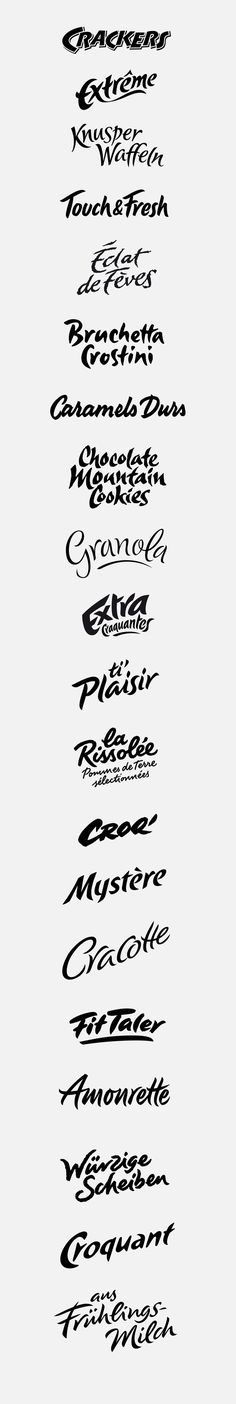 logotypes: crunchy, rustic on Behance