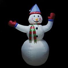 Northlight Seasonal 31729906 Animated Inflatable Lighted Standing Snowman Christmas Yard Art Decoration *** You can find more details here : Garden Christmas Decorations Christmas Yard Art, Snowman Christmas Decorations, Christmas Snowman, Christmas Lights, Christmas Crafts, Holiday Decor, Christmas Stuff, Holiday Ideas, Christmas Light Installation