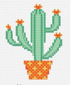 Modern Cross Stitch – Sweet Little Cactus Cross Stitch Pattern by Tiny Modernist Modern Cross Stitch Sweet Little Cactus Kreuzstichmuster Cactus Cross Stitch, Tiny Cross Stitch, Easy Cross Stitch Patterns, Cross Stitch Needles, Simple Cross Stitch, Modern Cross Stitch, Cross Stitch Flowers, Cross Stitch Designs, Embroidery Hoop Art