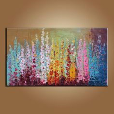 Colorful Flower Painting Painting Abstract Painting by artfan1981